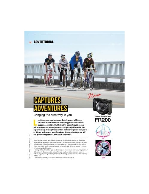 Cycling Malaysia Magazine - December 2016 - January 2017 Issue-FR200 Advertorial