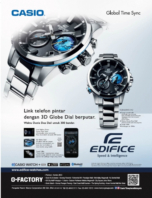 EDIFICE EQB-600-Getting to know the EQB-600D, you'll realize it is more than just technology. Its beauty and advancement in a watch.